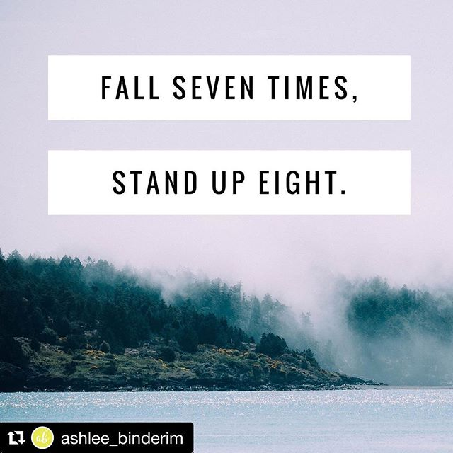 #Repost @ashlee_binderim with @repostapp ・・・ I resonate with this SO much! As an entrepreneur at heart, I am trying to figure out what it is that I want to do with the rest of my life. Uh, scary much? So, I've been trying it ALL. Figuring out what I can be successful in, starting businesses, having those businesses not be successful, but I wont give up. Neither should you. Fall seven times, stand up eight. Why? Because what if this next venture is your make it moment?
