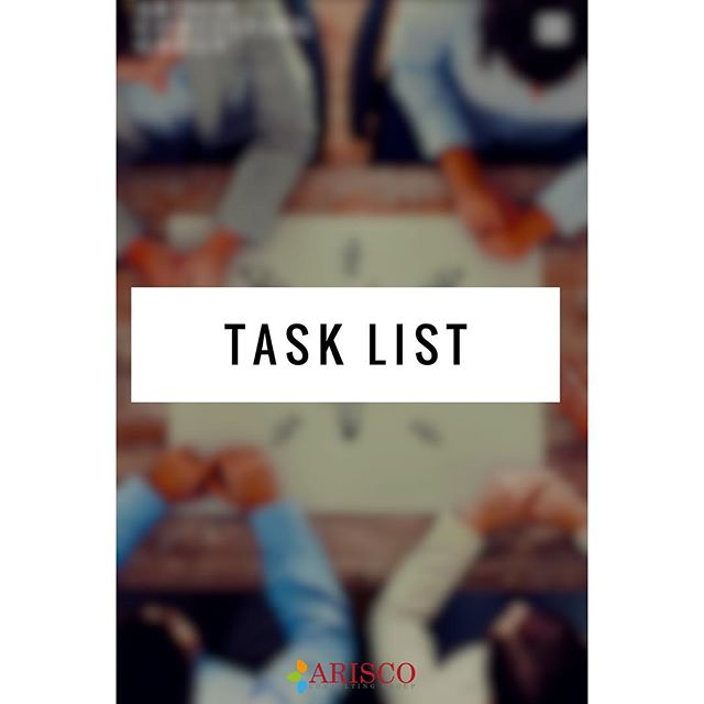 What do you need to get done this week? #DailyTaskLists help with productivity! Make your list and stick to it! #BeRealistic #MakeItHappen #YouCanDoIt #Houston #Business #Consulting #ARisingCompany #VirtualAssistant #Administration #Assistant #Organization #Help #leadership #Repost #AriscoGroup