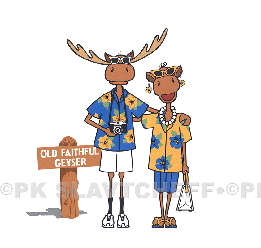 Patti King Slavtcheff_Illustration_Moose Tourists