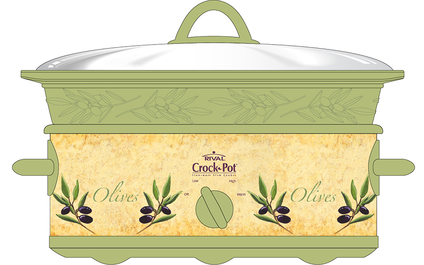 Patti King Slavtcheff_Fruit and Veggies_Tuscany Olives Crock Pot Cover