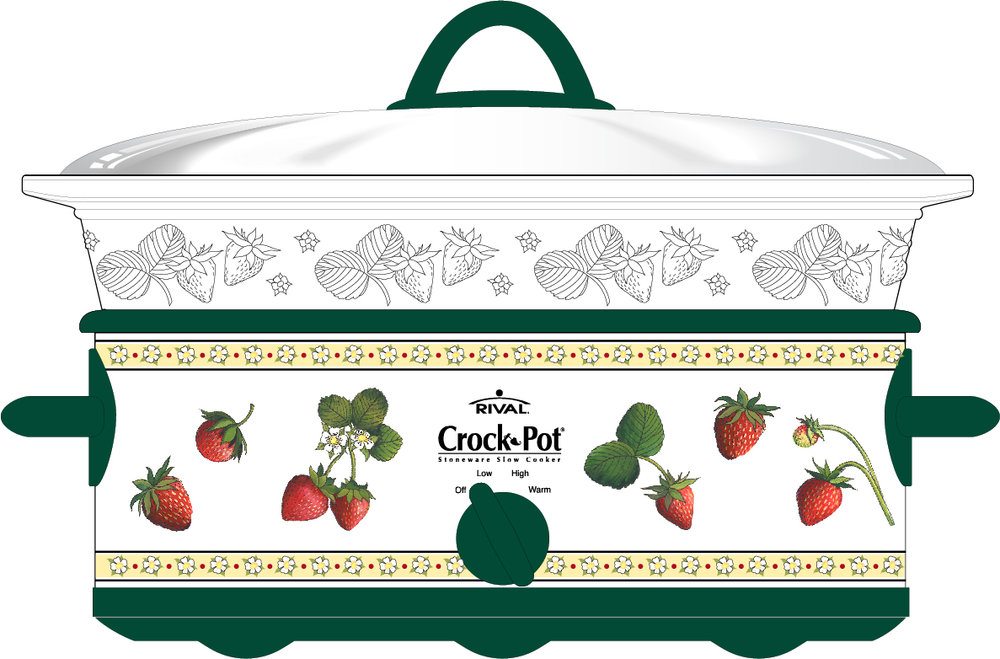 Patti King Slavtcheff_Fruit and Veggies_Strawberries Crock Pot Cover