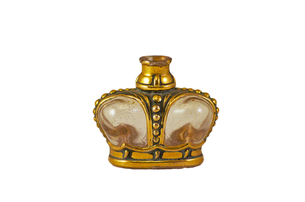 Prince Matchabelli mini perfume bottle, missing stopper, circa 1950s, American.
