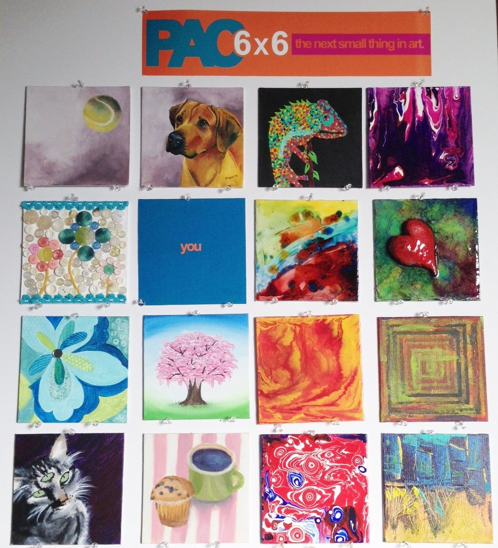 6 x 6 - We're recruiting all creatives!  This 6 x 6 fundraiser is this November and we would love to have 1000 donated 6 x 6 pieces to hang in our gallery for show and sale. Call today for your canvas! 304-485-3859 We are accepting pieces now until October 1. For details click here.