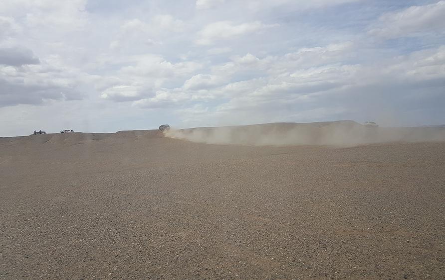 Our fleet of desert vehicles.