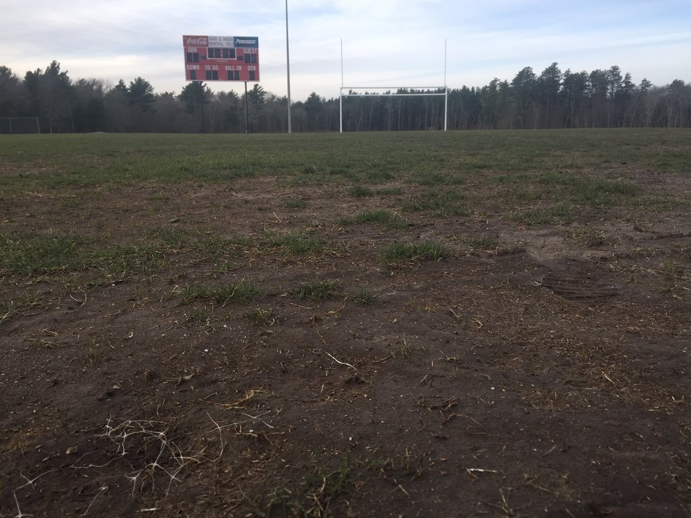 Conditions at the main playing field at old rochester high school