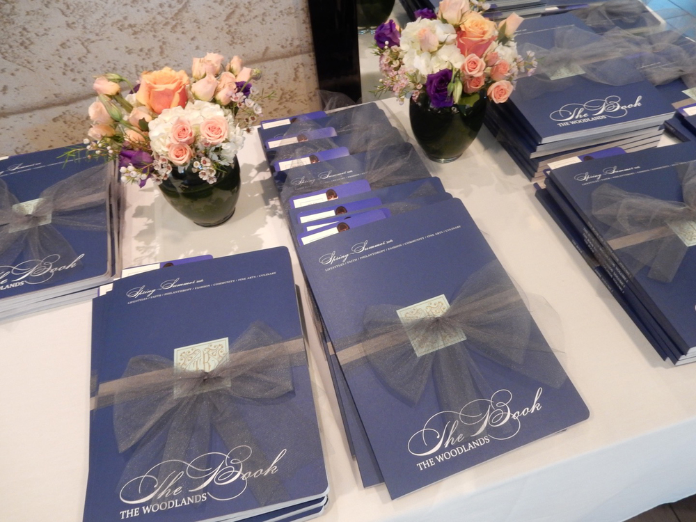 Each attendee walked away with copies of The Book The Woodlands, tied in beautiful ribbon.