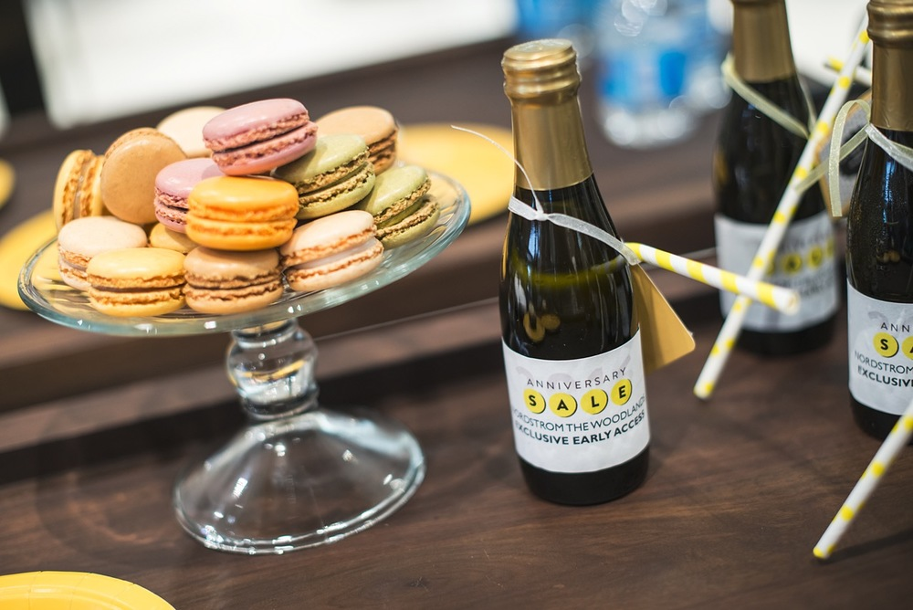 Macaroons, champagne and shopping!  All part of Nordstrom's mini fashion show that featured the upcoming fall trends and styles, and their top Anniversary Sale bargains!