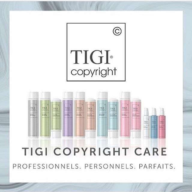 We're loving the new TIGI Copyright line of shampoos and stylers! Customized care that really works- Ask your stylist what's right for your hair!! . . @tigicopyright @tigiprofessionals #tigicopyright #lovewhatwedo #michigansalon #salonlife #askyourstylist