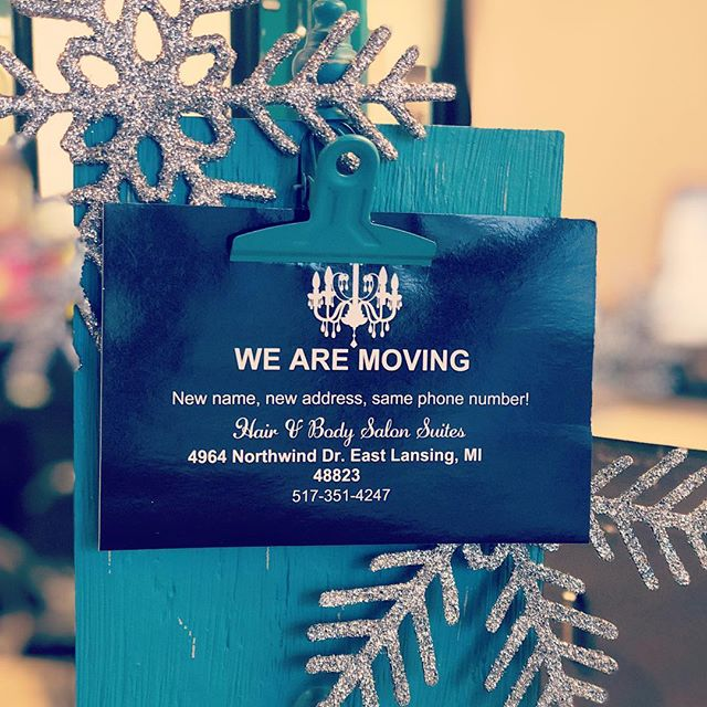 ❄️Exciting news!❄️ #hairandbodyelements is moving in 2019!  More details coming soon!  #eastlansingsalon #lovewhatwedo #movingsoon #michigansalon