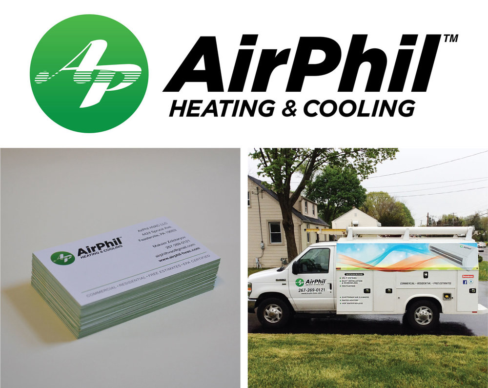 AirPhil Heating & Cooling Branding