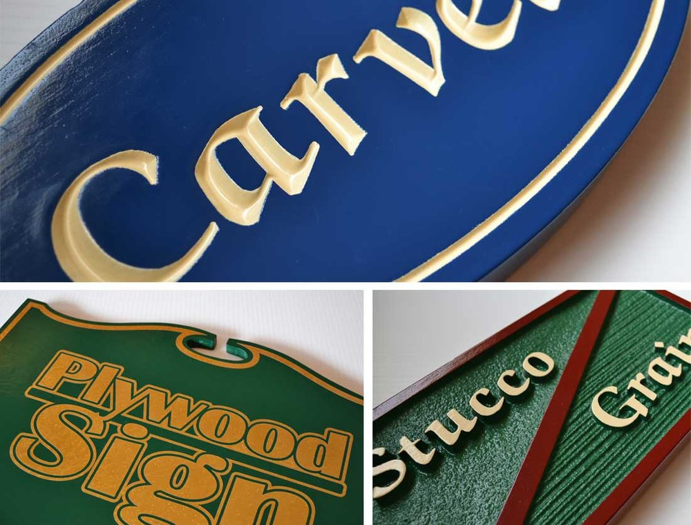 Outdoor Carved Signs