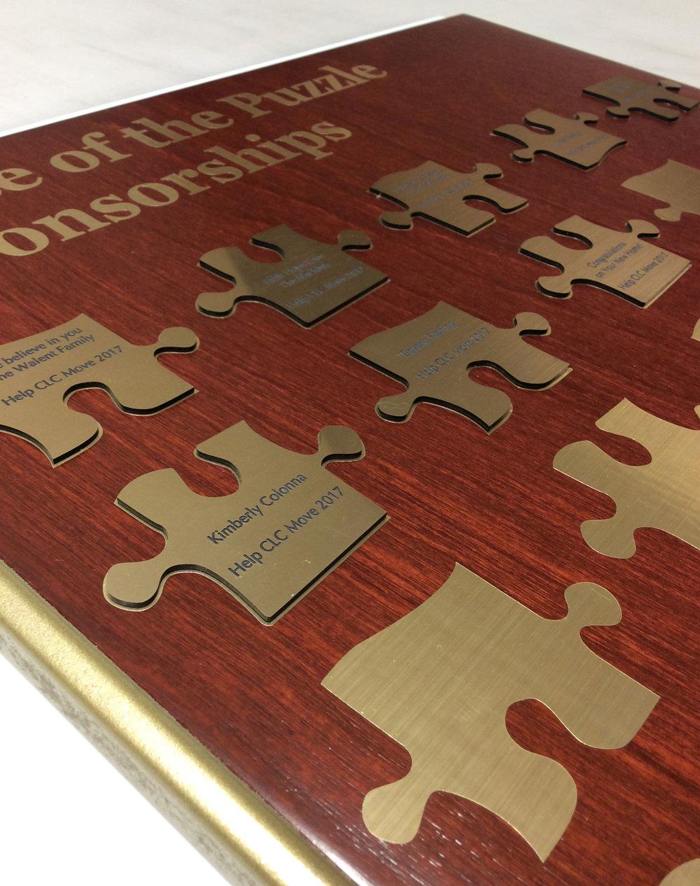 Engraved Puzzle Pieces