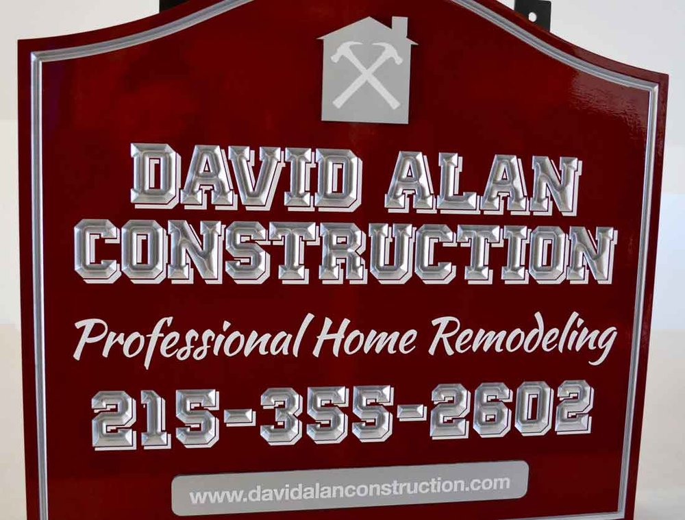 Contractor Carved HDU Sign