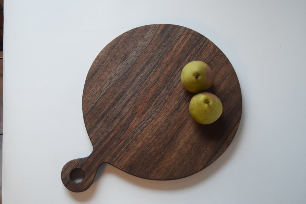 Handmade walnut serving board