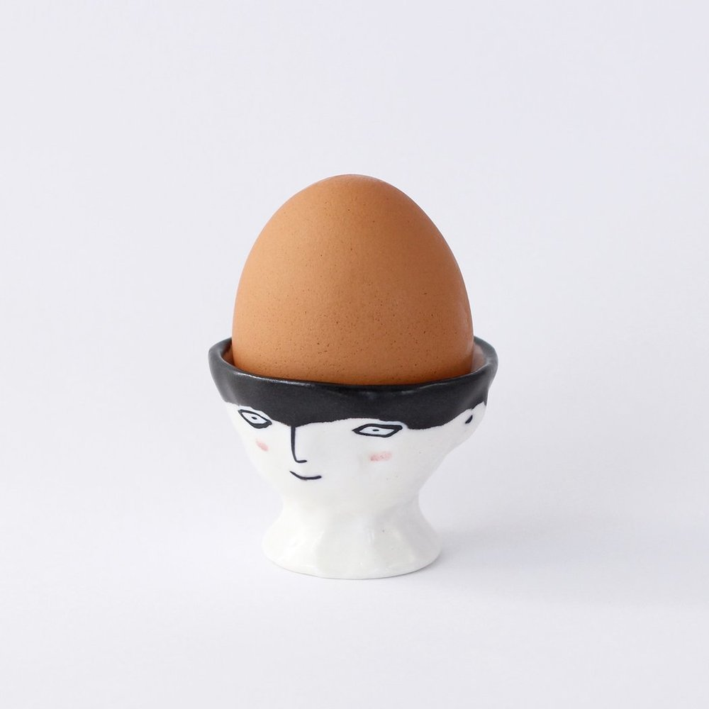 Quirky ceramic egg cup