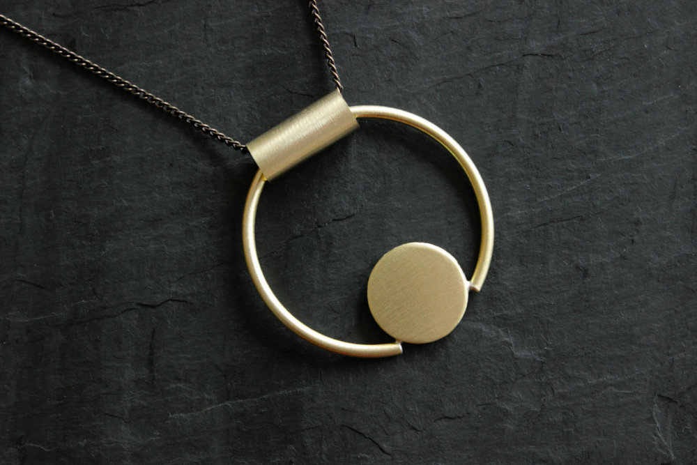 Loop Handmade Jewelry circle necklace