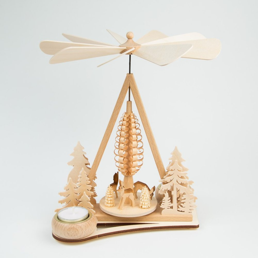 Wood holiday candle carousel