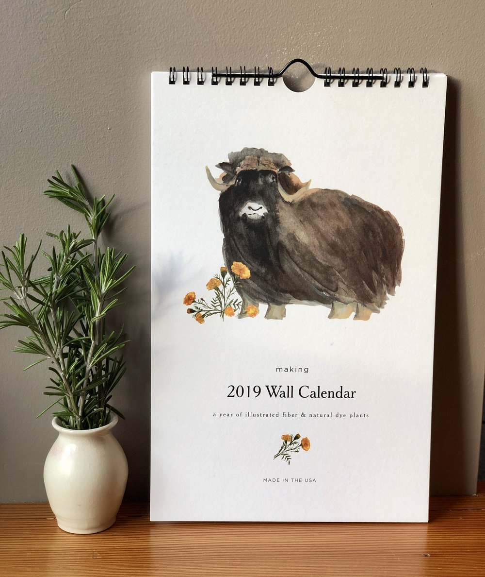 2019 Calendar watercolor artist