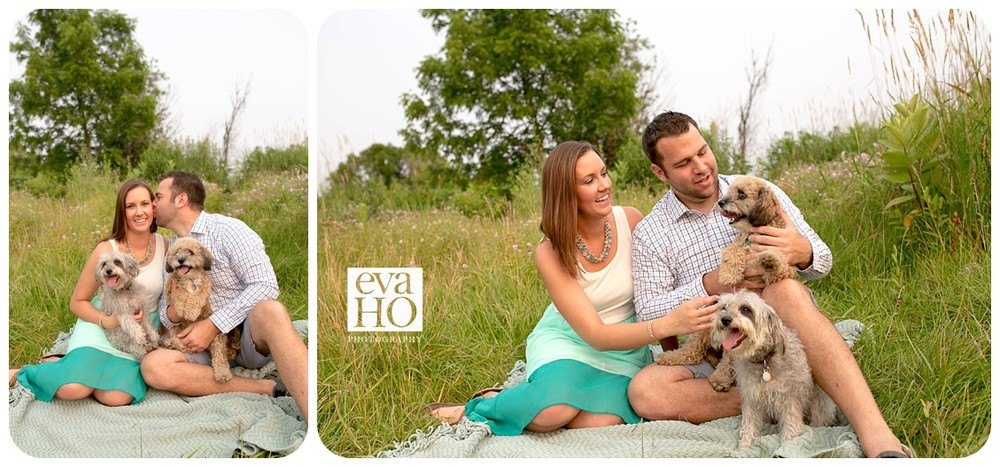 Hidden Lake Forest Preserver Dog Lovers Engagement Session