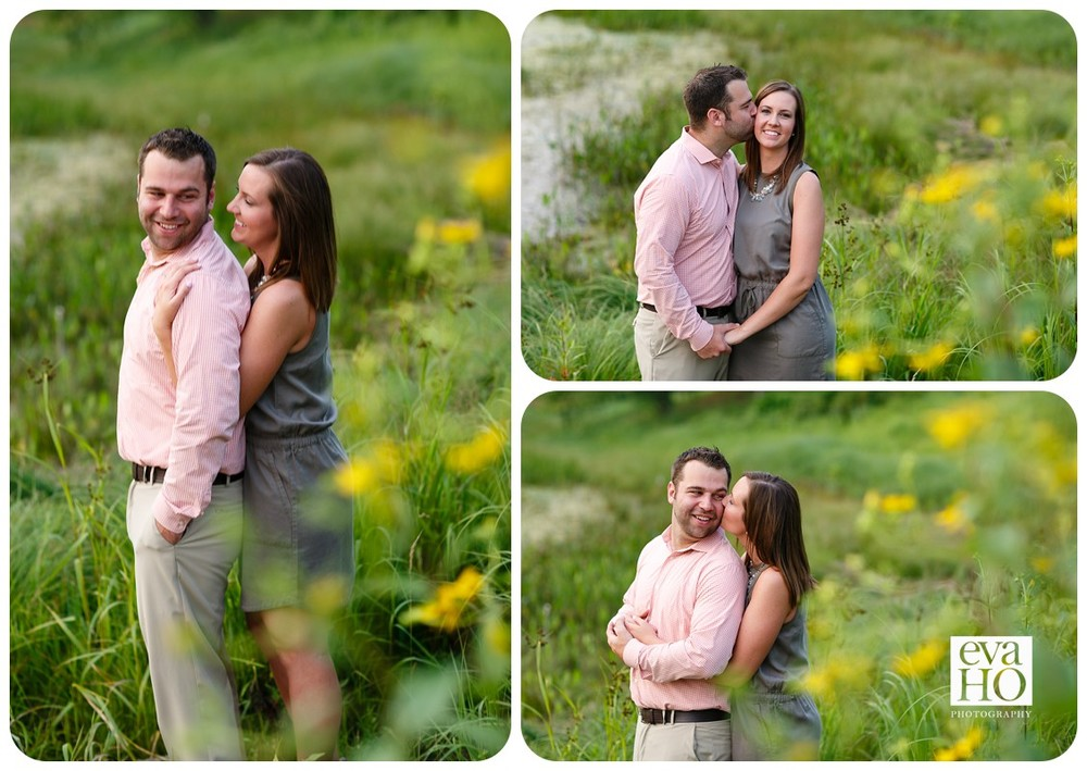 Morton Arboretum Hugs and Kisses at Engagement Session