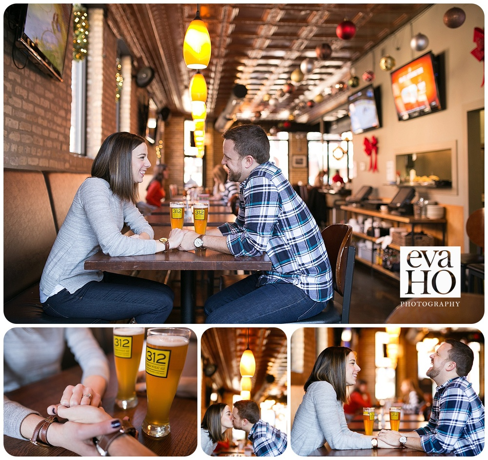 George Street Pub Engagement Photos