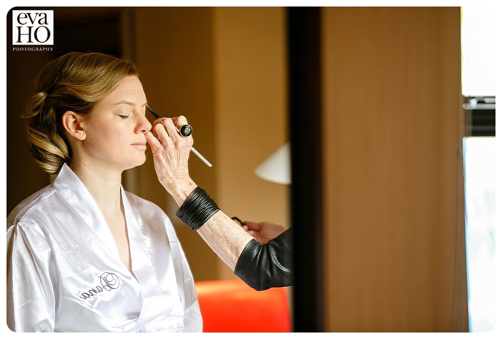 The lovely bride getting ready