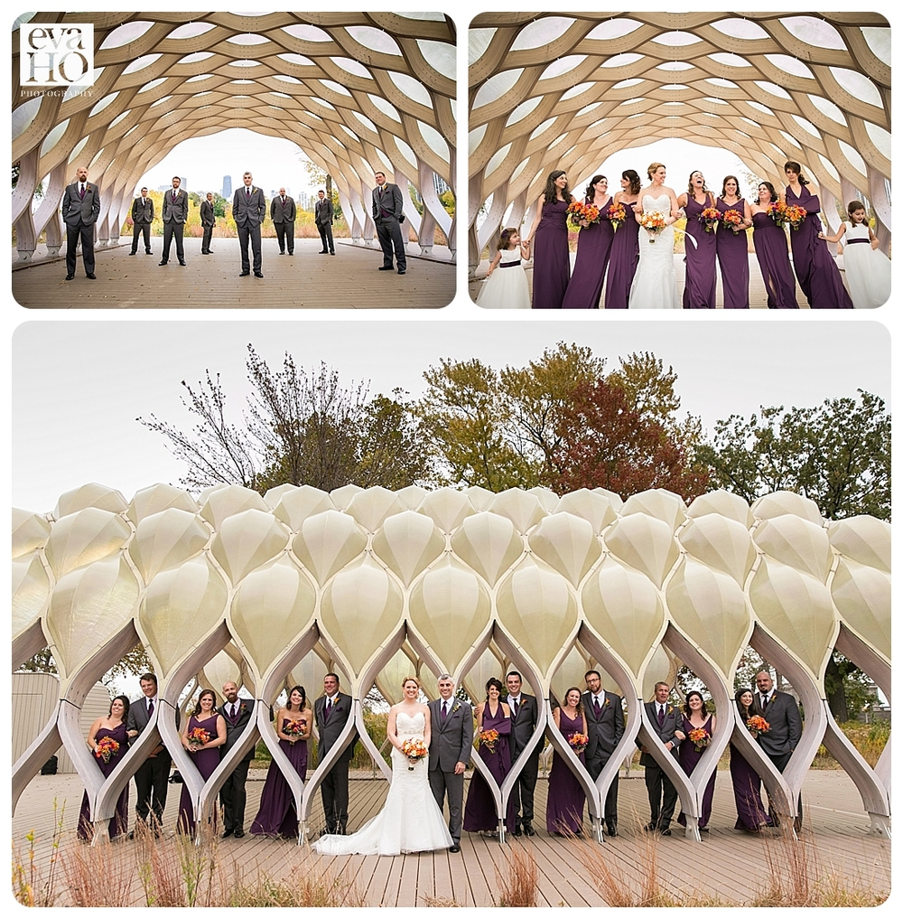Wedding party at the Honeycomb Tunnel in Lincoln Park