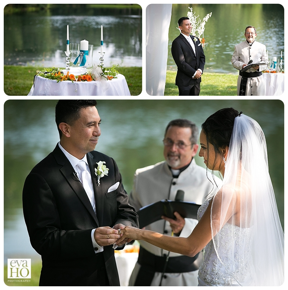 The ceremony at Wandering Tree Estate