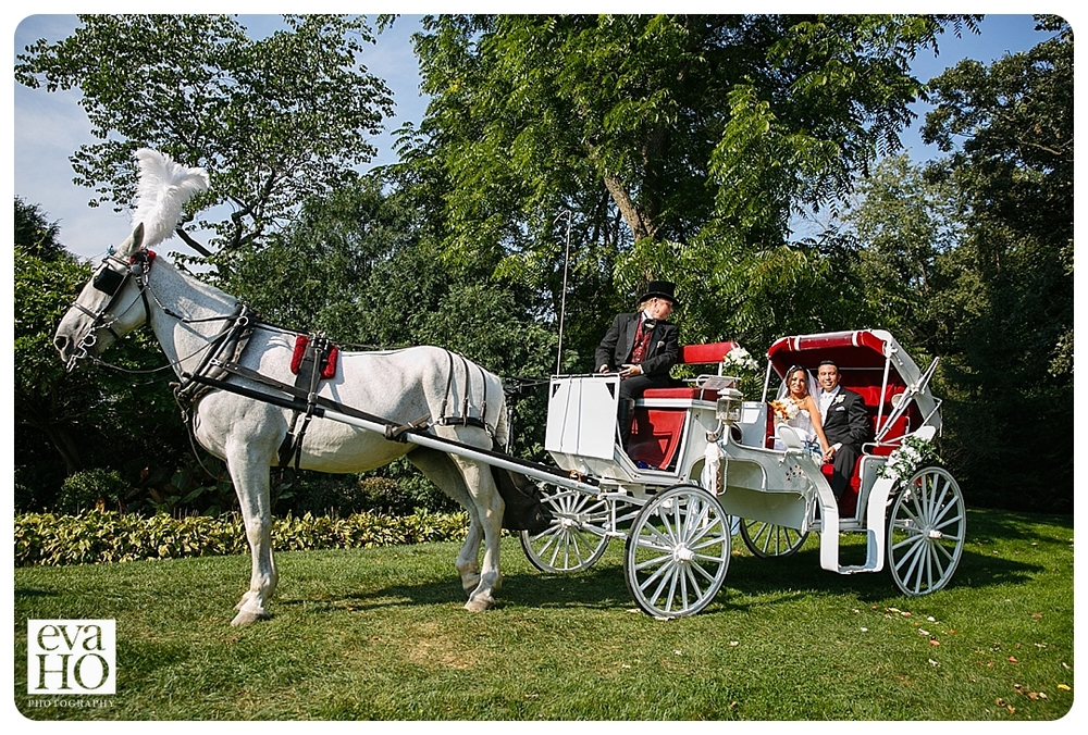 A lovely carriage ride for the newlyweds
