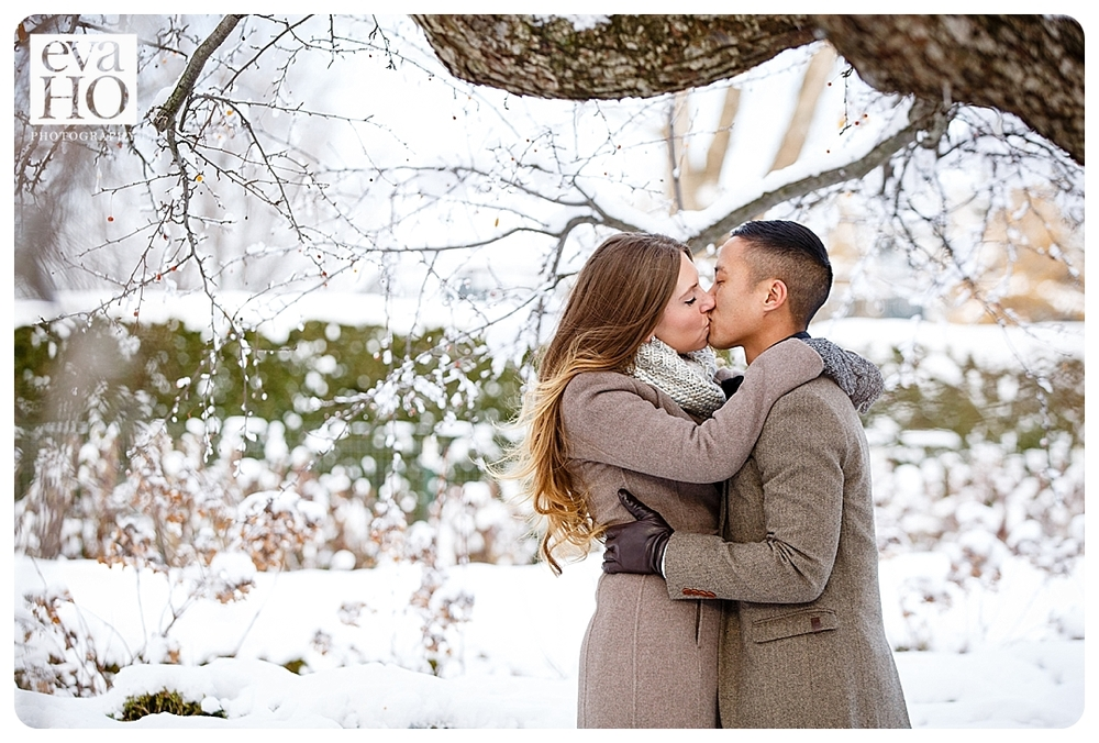 Morton Arboretum Winter Engagement Session