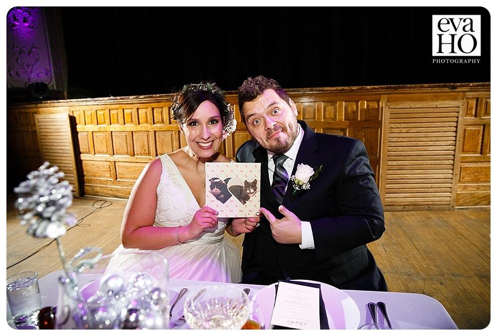 Both bride and groom were huge cat people