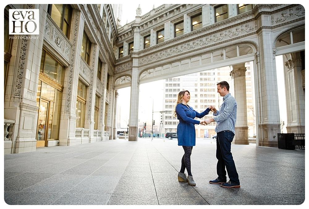 Dancing near the Wrigley Building
