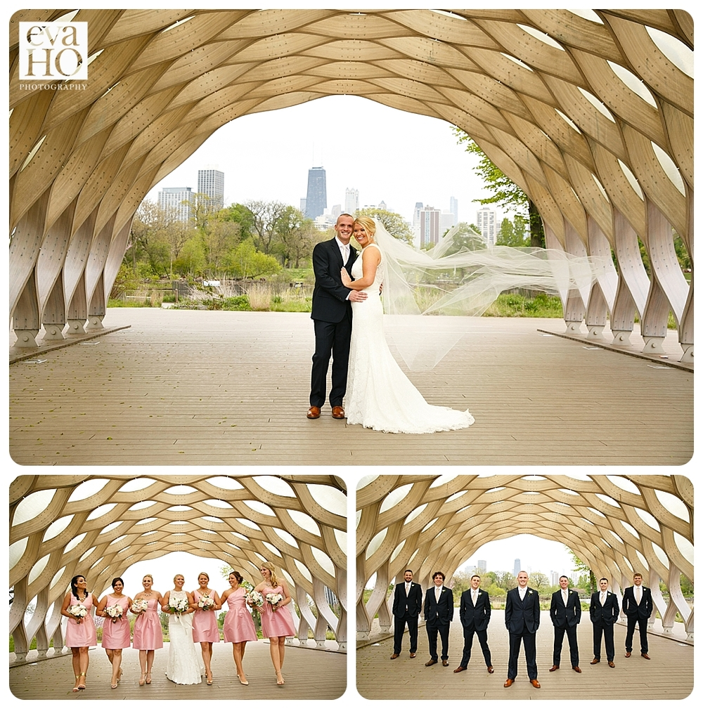 Lincoln Park Honeycomb Wedding Party Portraits