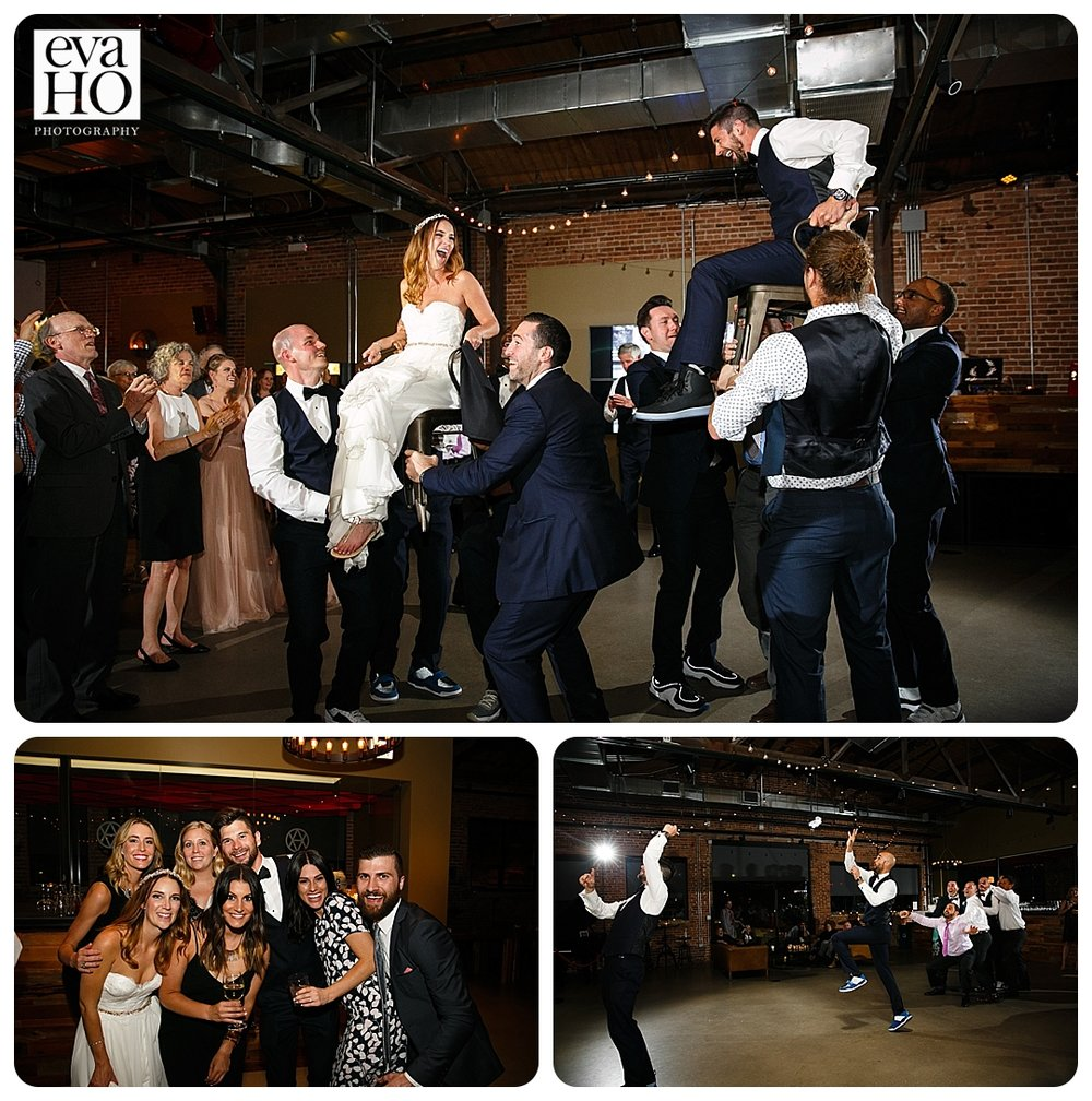 The Hora, the traditional Jewish chair lift dance!