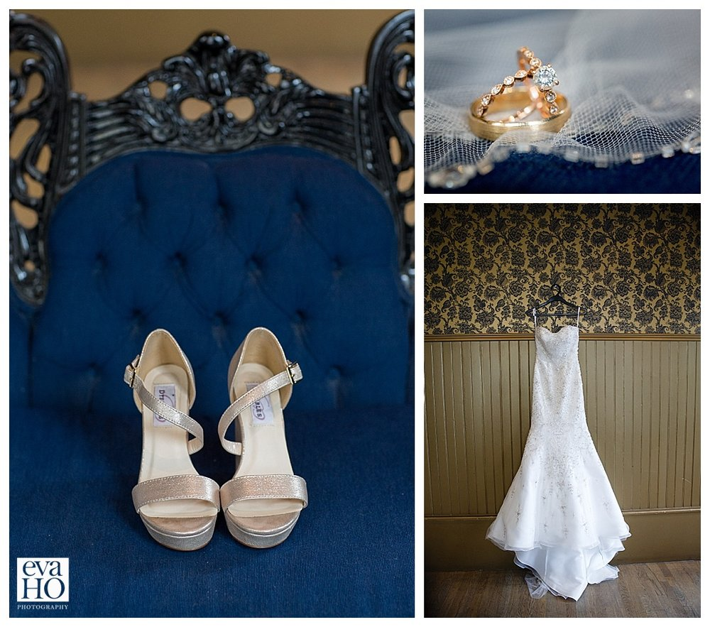Bride's family manufacture shoes.  These are the shoes from her family business.  Wedding dress complements her figure perfectly.