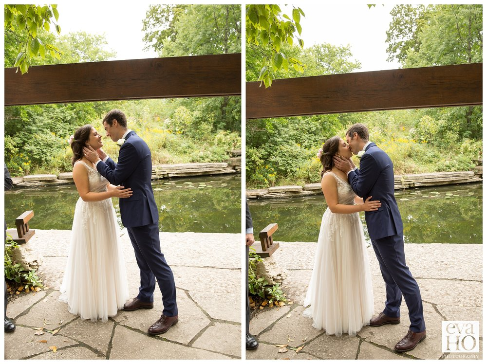 Intimate wedding at the Arthur Caldwell Lily Pond