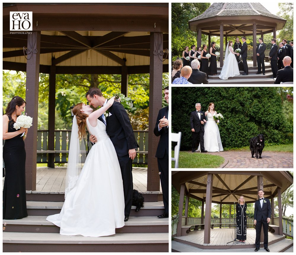 Beautiful ceremony outside under the gazebo at Unity Church