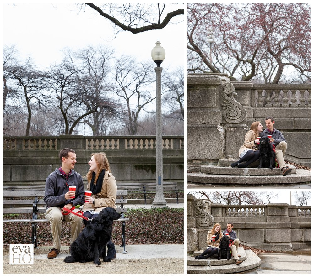 Meghan and Chris' engagement session in the South Loop