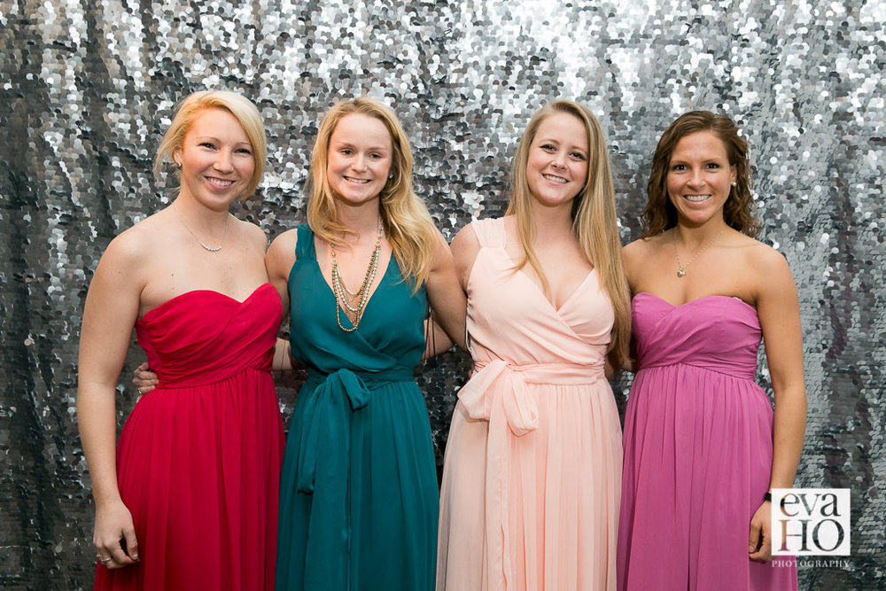 Bridesmaids at the Fun Pop-up Wedding Event Hosted by The James Hotel in Downtown Chicago