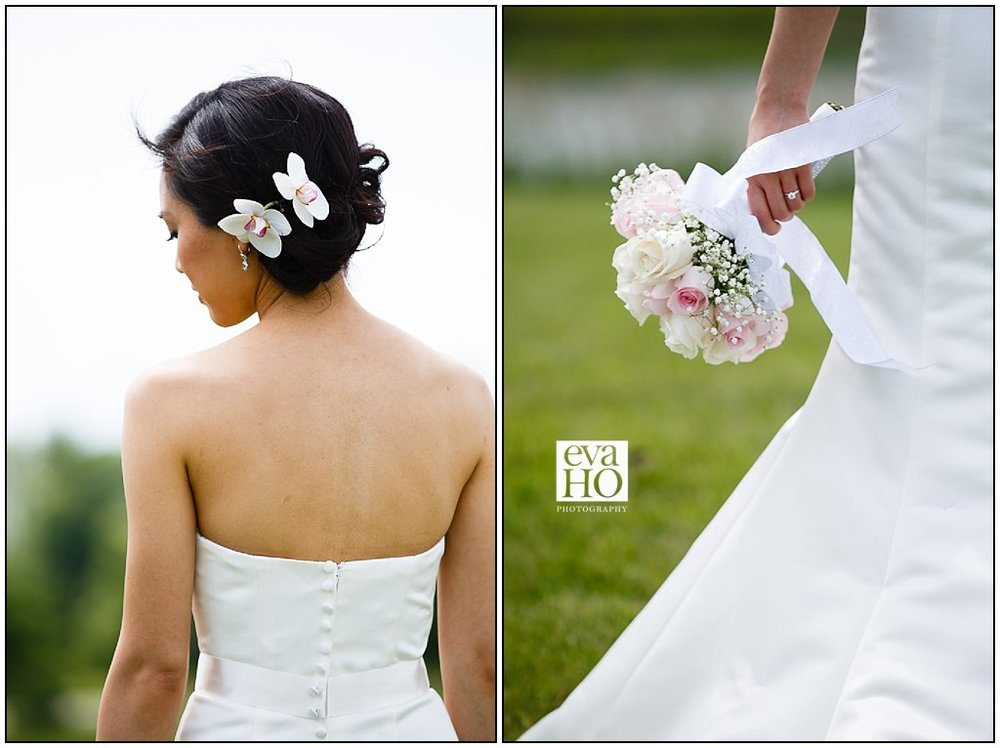 Gorgeous greenery backdrop adorns the stunning Bridal Details