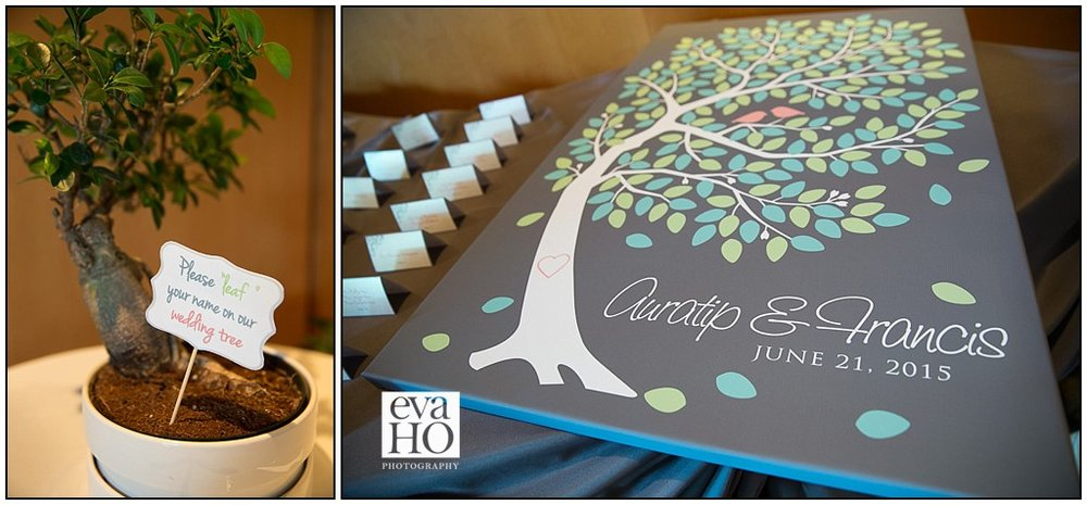 Guests are encouraged to sign in on a sign-in tree that the newlyweds will treasure forever