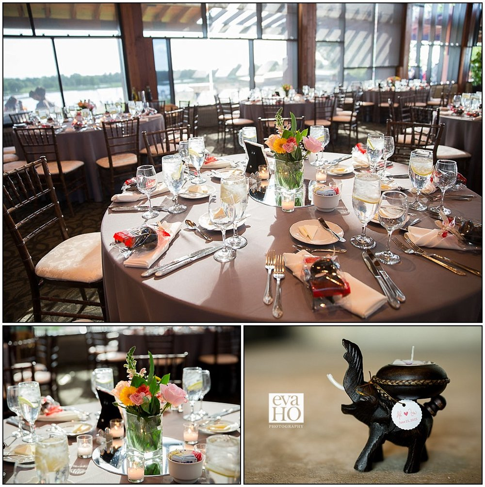 Dinner reception room at Indpendence Grove Forest Preserve