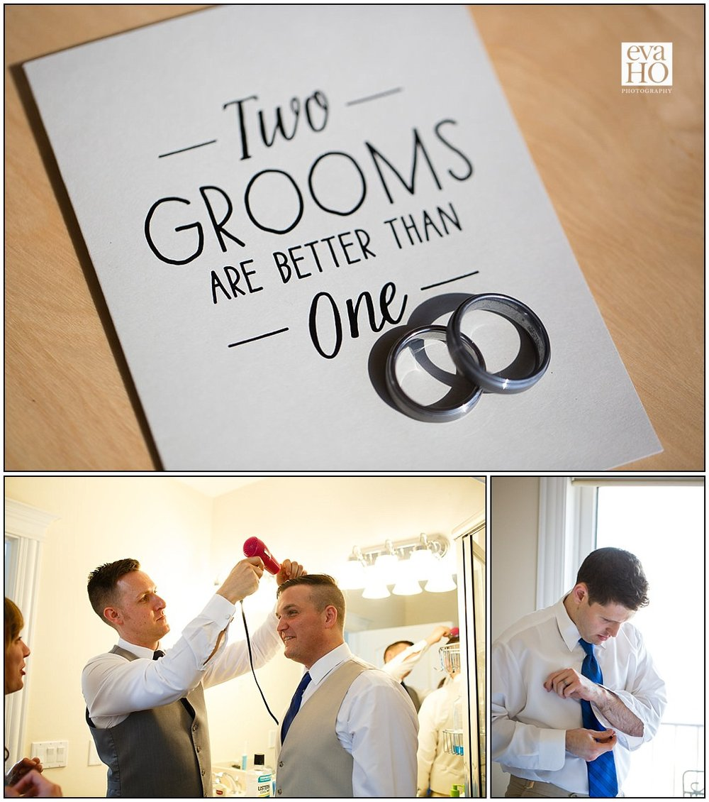 Two grooms are better than one.