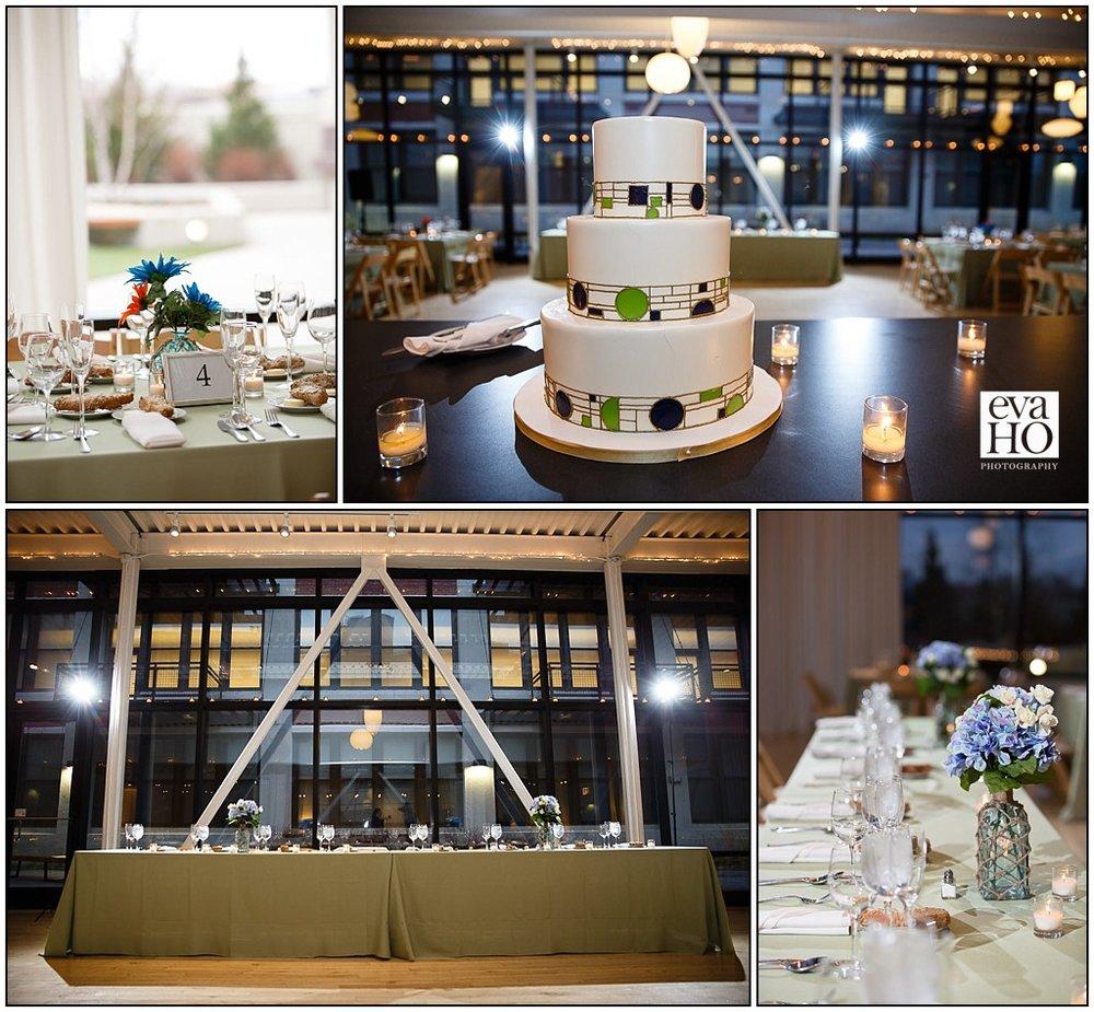 Wedding reception details at Greenhouse Loft