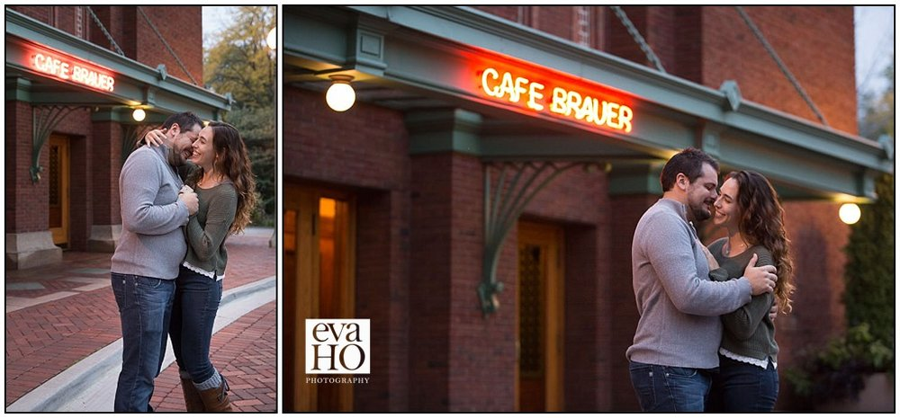 Lincoln Park Cafe Brauer is their wedding venue and the bride- and groom-to-be can't wait for their wedding day!
