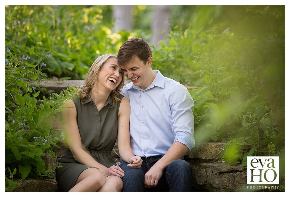 Melanie and Phil's engagement session in Evanston on Lighthouse Beach.