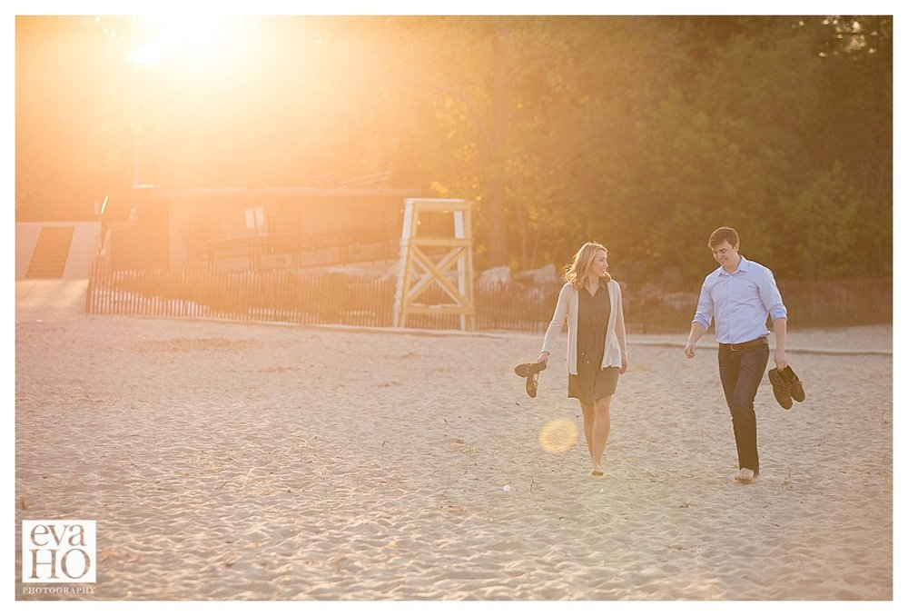 Loved capturing this moment as the sun was going down on a very successful engagement session!