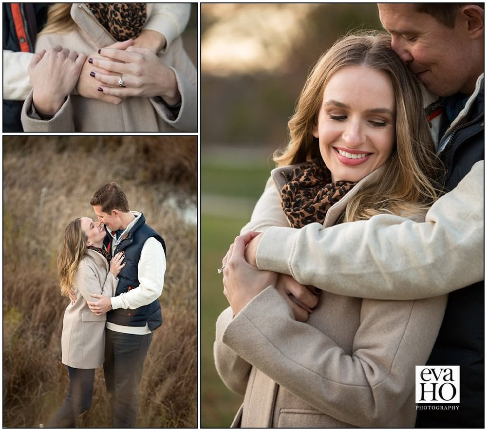 Stunning shots of the couple in the forest preserve