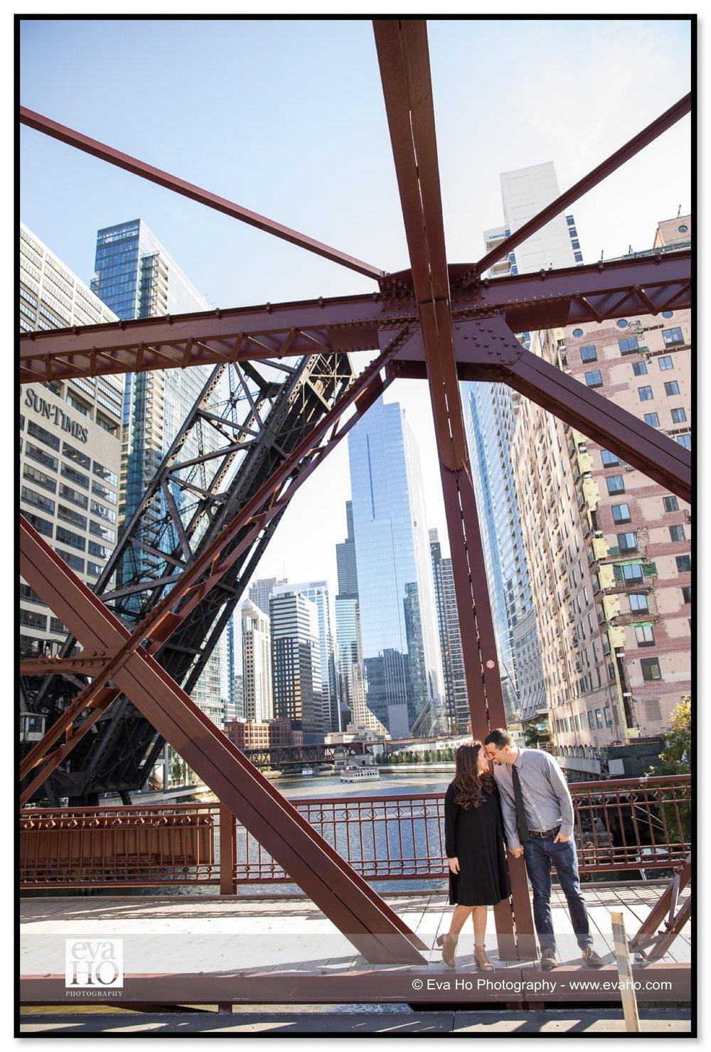 Kinzie Street Bridge Engagement Session