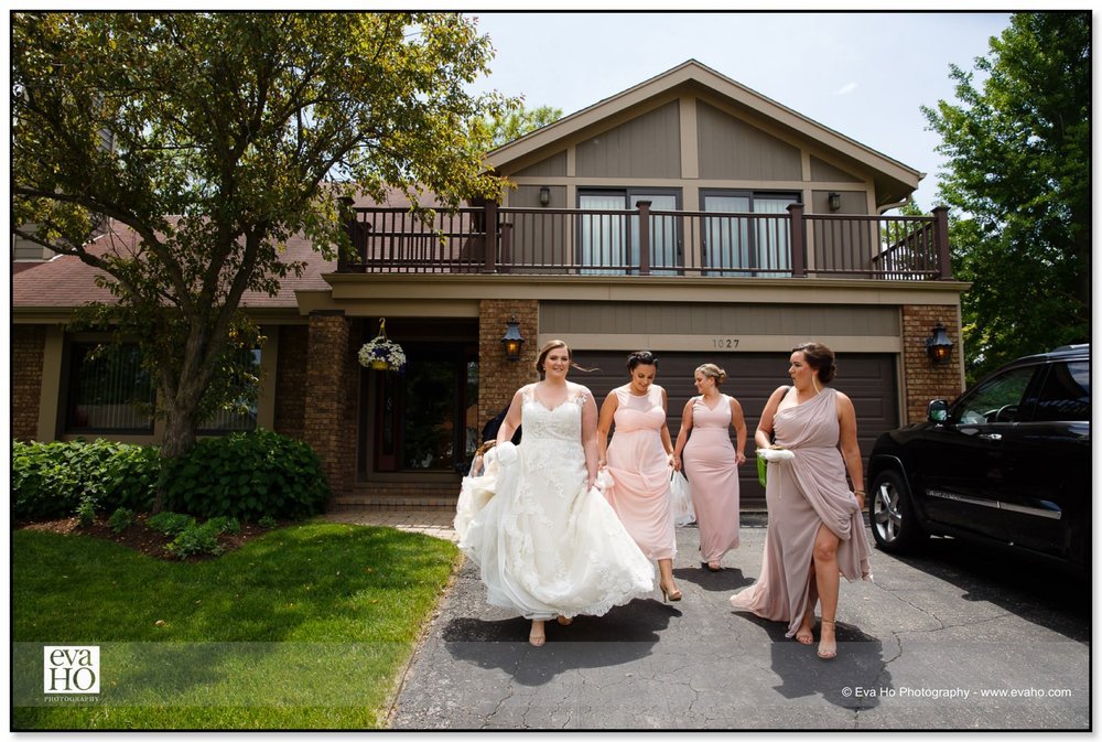Laura and her bridesmaids are ready to get married.